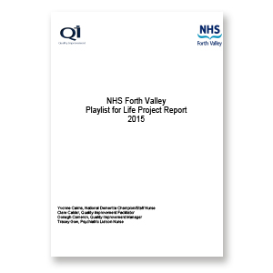 A link to NHS Forth Valley's Playlist for Life Project Report 2015 .pdf file is present