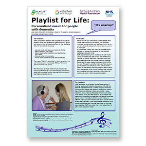 A link to NHS Lothian's personal music project in complex care wards .pdf file is present