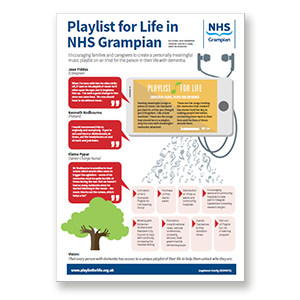 A link to NHS Grampian Person Centred Team's personal playlist project .pdf file is present