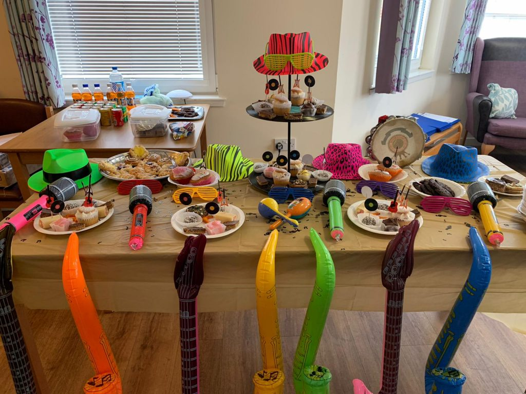 Musical Tea party table